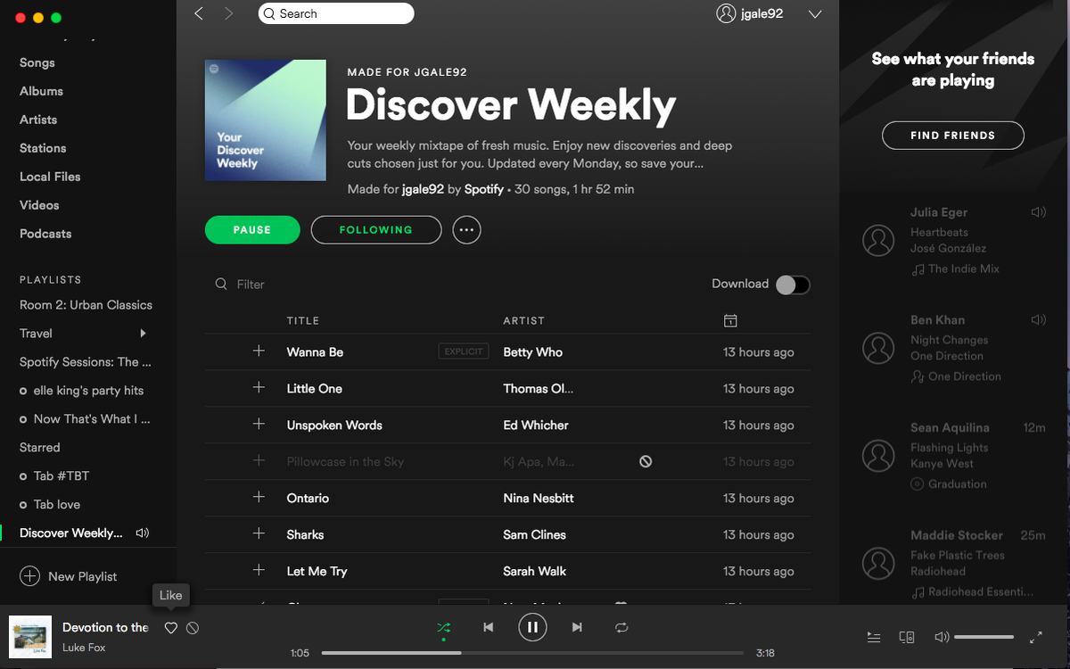 client desktop Spotify