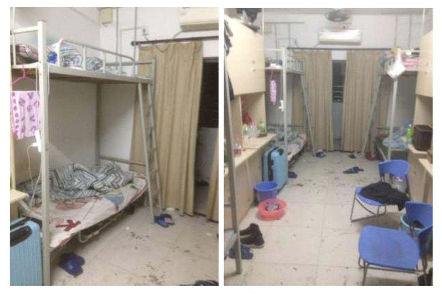 Dormitori di Catcher in pessime condizioni igieniche