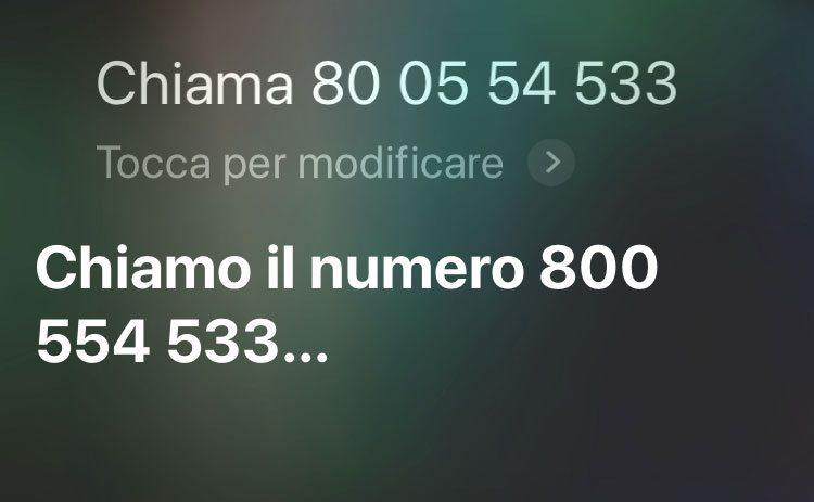 Telefonare con iPhone chiamo numero