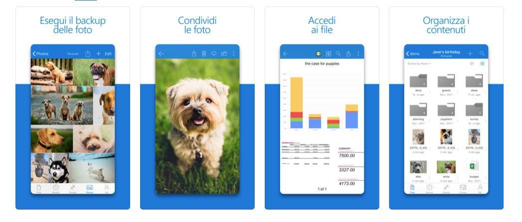 OneDrive per iPhone e iPad