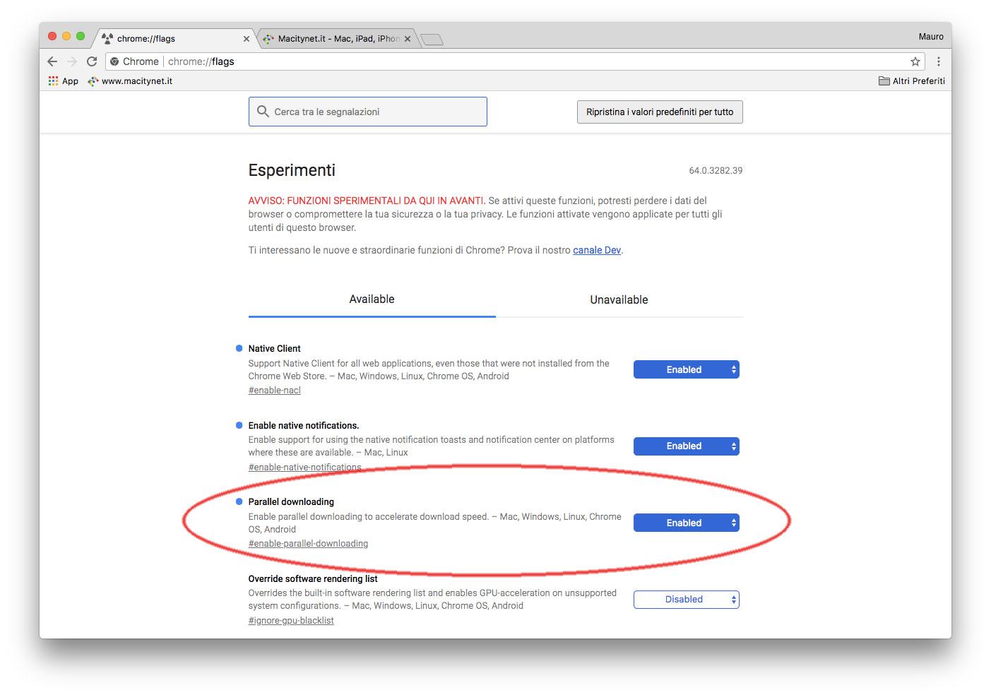 In Chrome 64 download parallelo per scaricare velocissimi - Macitynet it