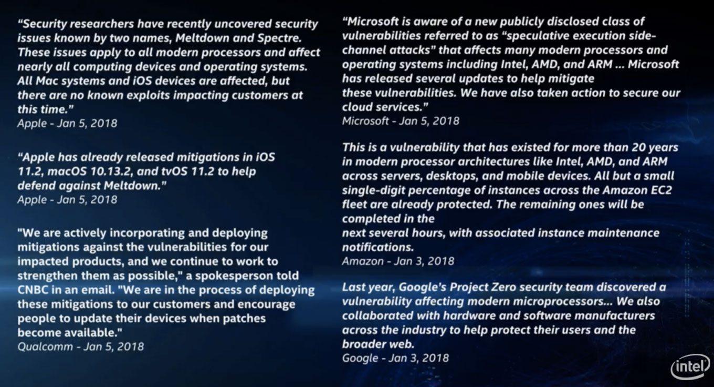 La slide mostrata da Intel - Foto: TechCrunch