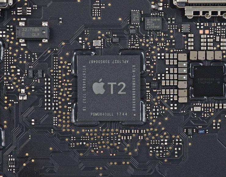 mac con arm foto processore T2