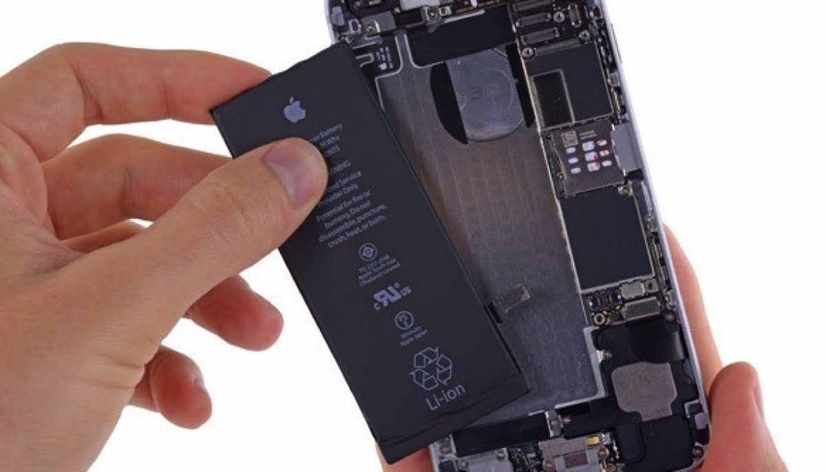 disabilitare rallentamento iPhone - foto batteria iphone