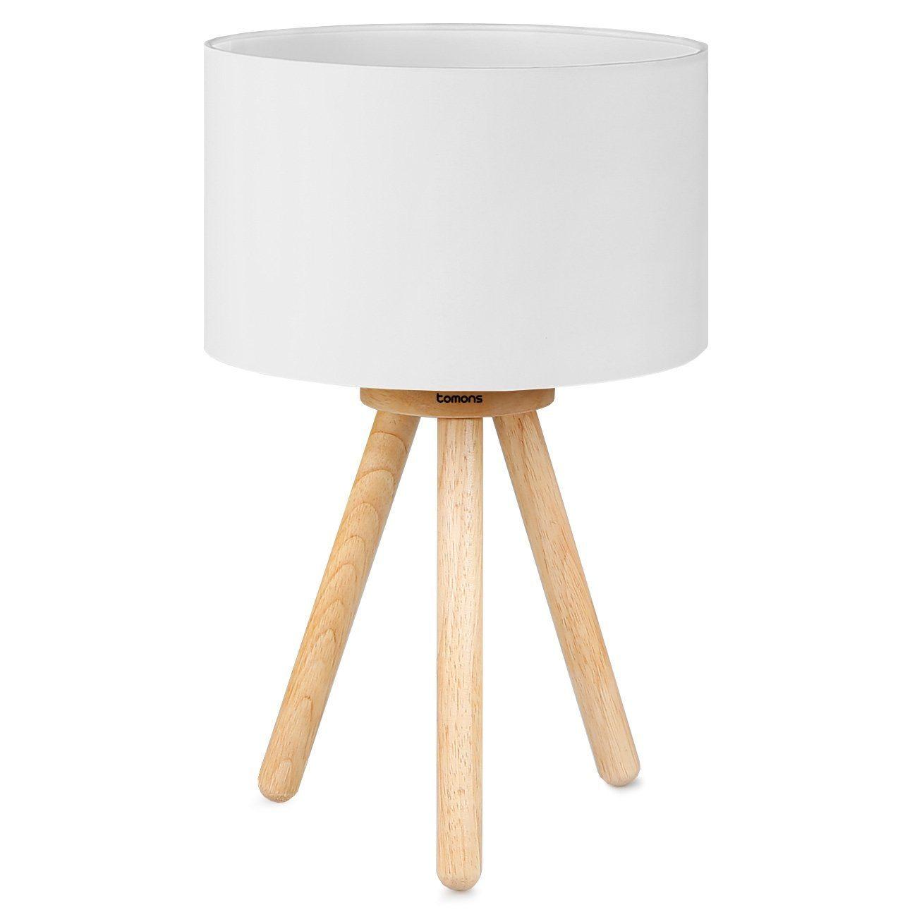 Lampa da comodino con struttura in legno
