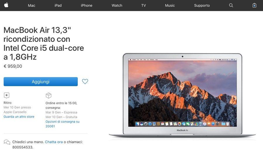 ricondizionati apple store air 13