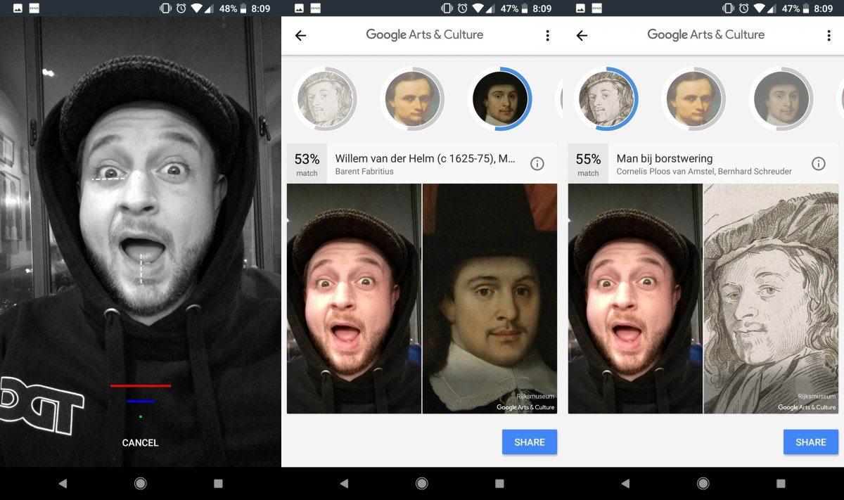 selfie arte google