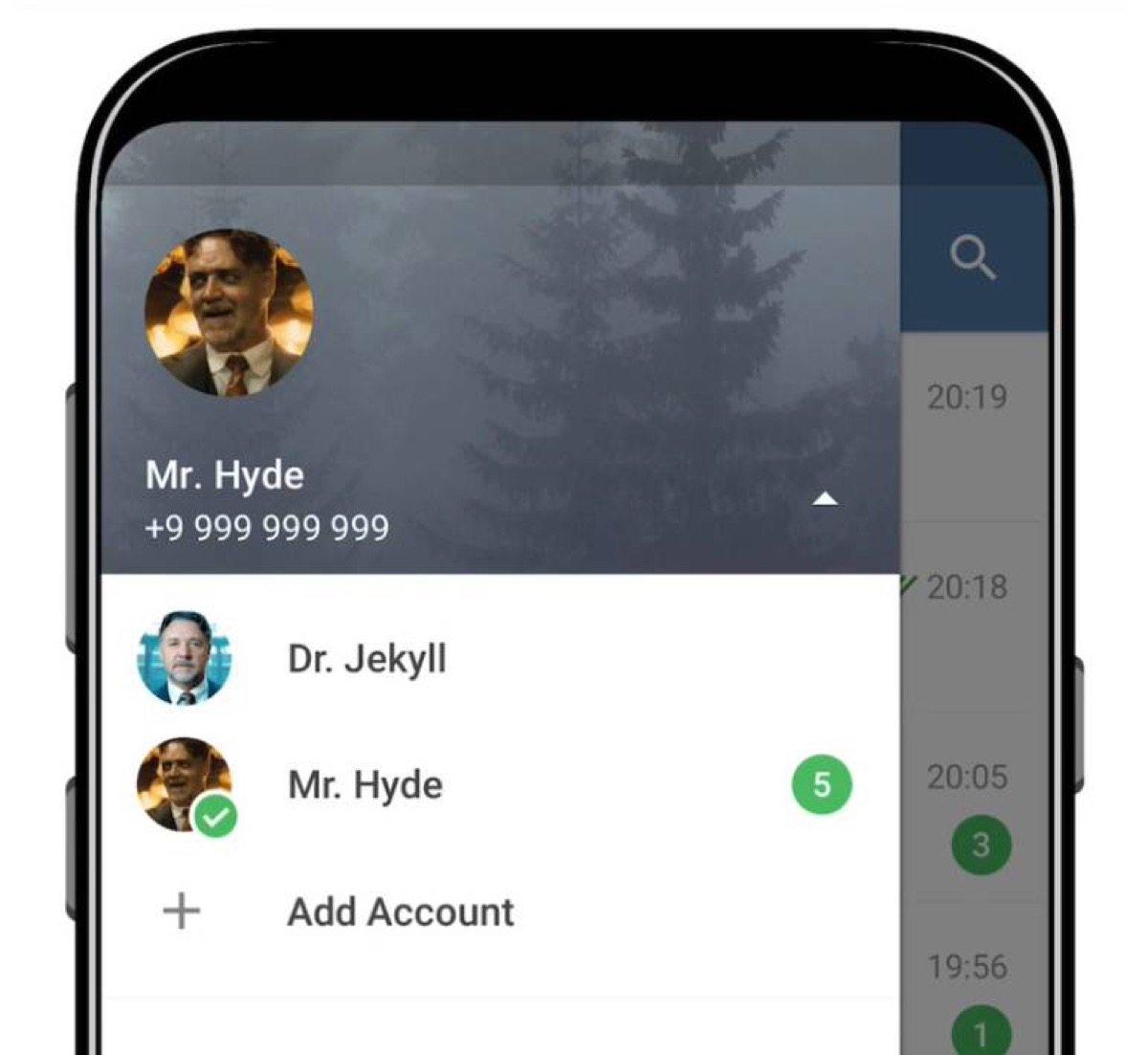 telegram multi-account