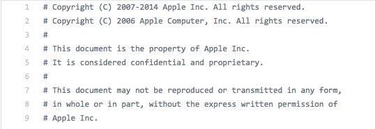 Parte del presunto codice sorgente dell'iBoot di iOS