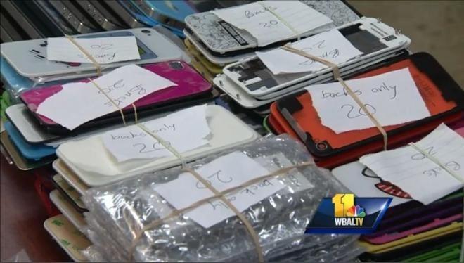 Prodotti Apple contraffatti sequestrati dalla polizia del Maryland nel 2013