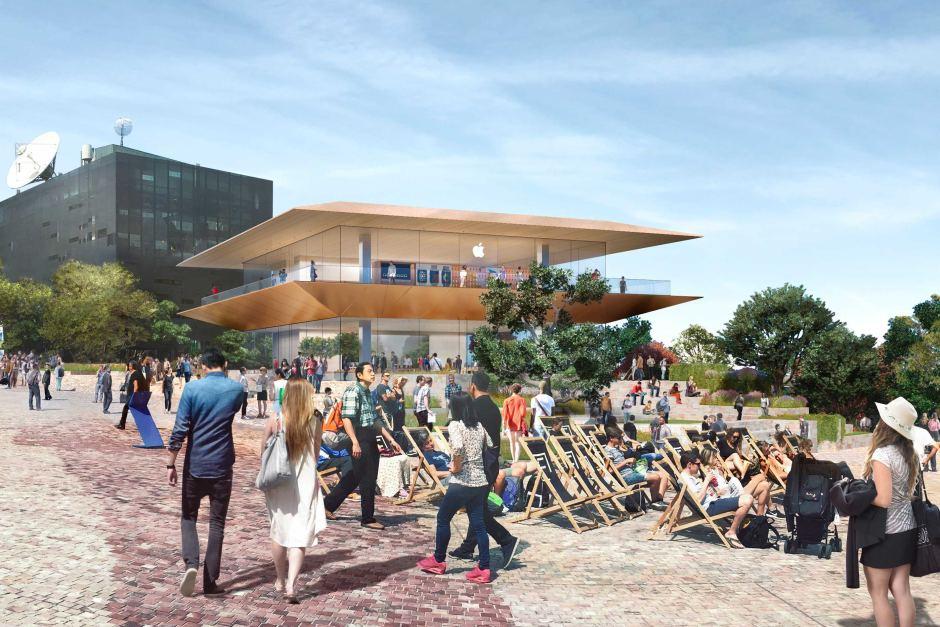 L'Apple Store previsto a Federation Square