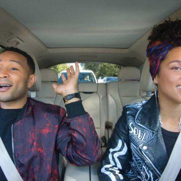 John Legend e Alicia Keys sono due delle celebrità che si sono messe al volante in un episodio di Carpool Karaoke