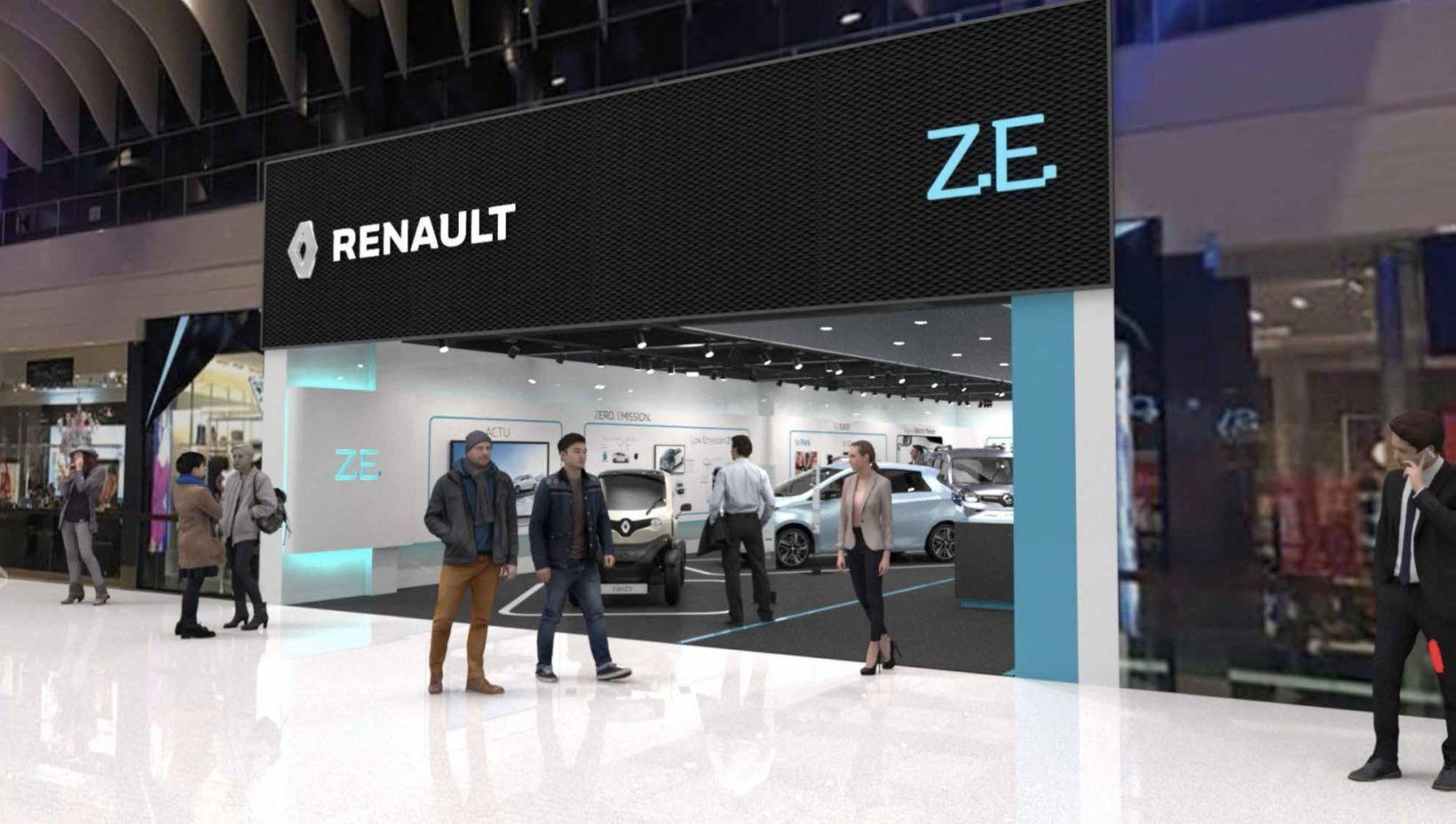 "Il ""Renault Electric Vehicle Experience Center"""