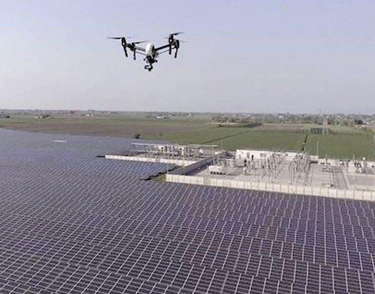 impianti fotovoltaici con i droni