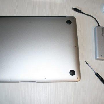 """Il MacBook Air 13"""" pronto per l'installazione della nuova unità"""