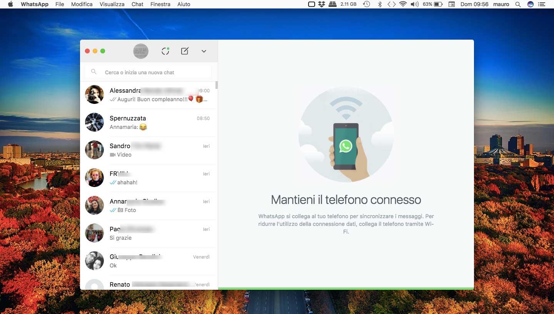 Il client WhatsApp per Mac