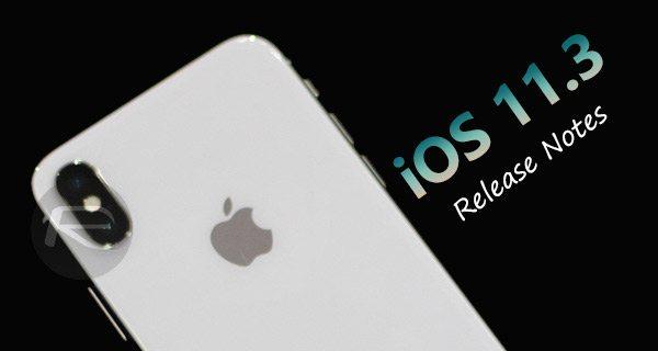 note di rilascio iOS 11.3