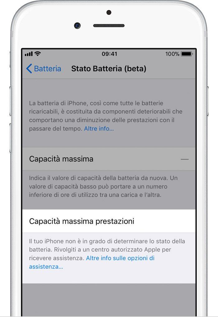 Batteria e prestazioni di iPhone