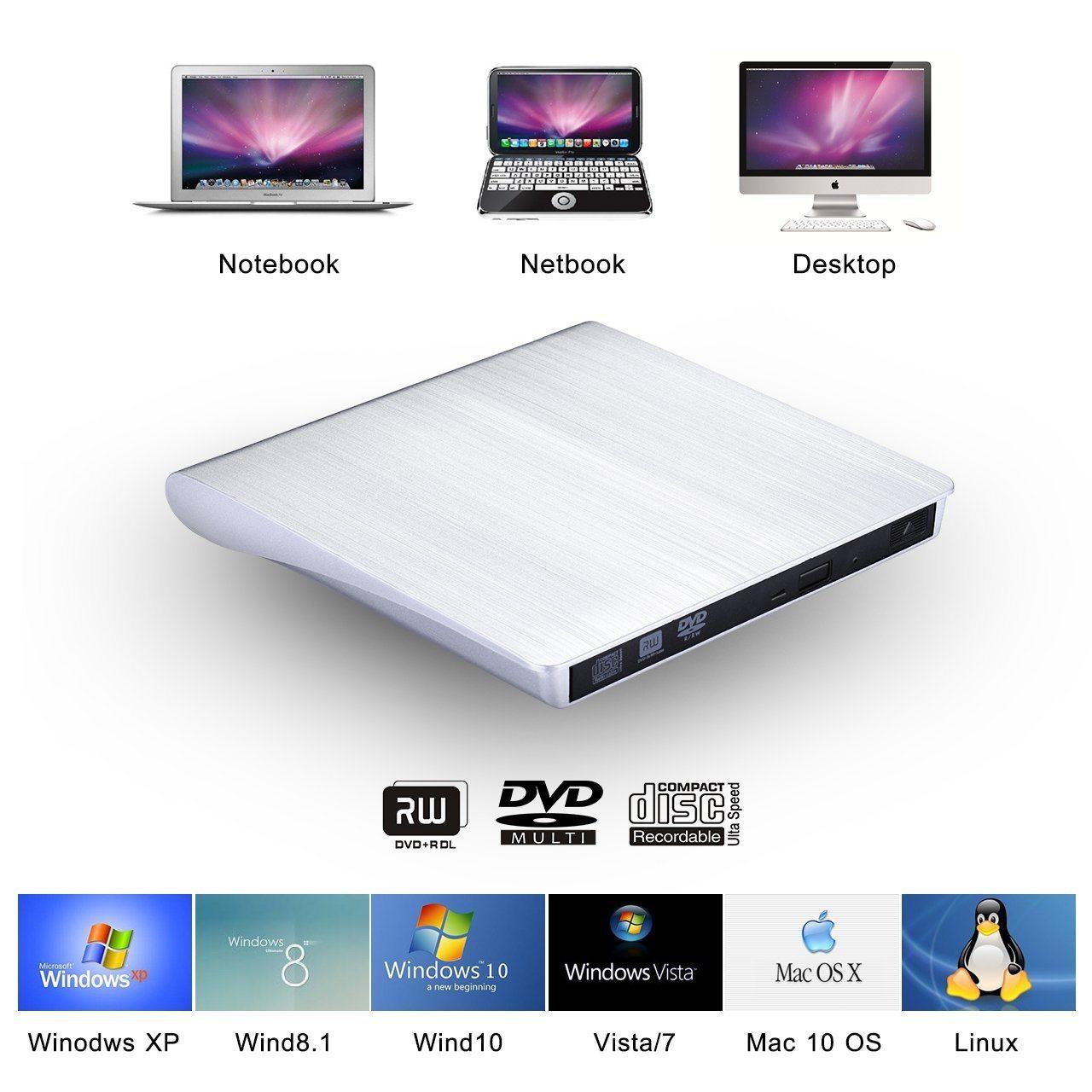 Masterizzatore CD/DVD su USB VicTsing