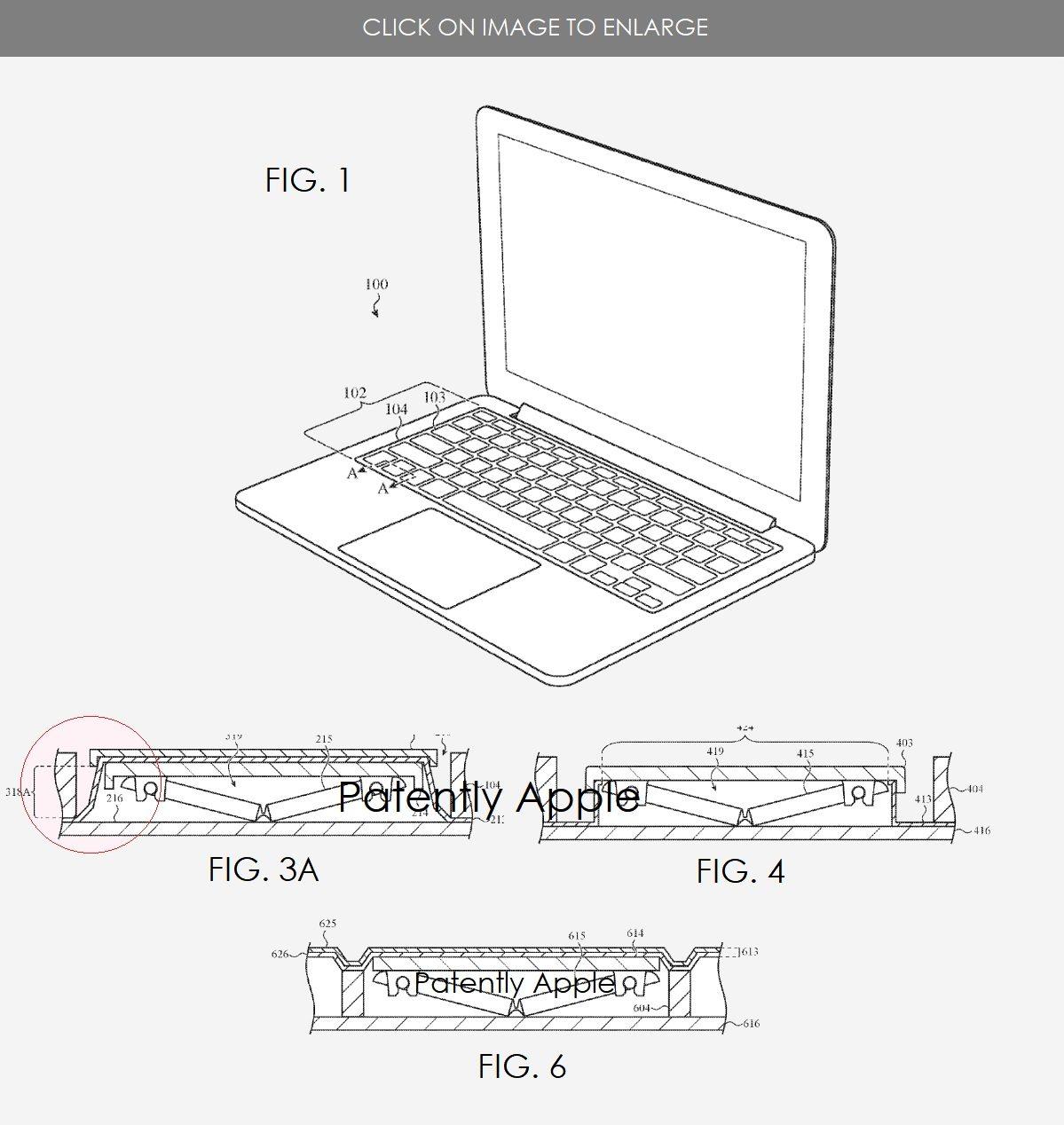 Brevetto tastiera apple resistente a polvere e liquidi