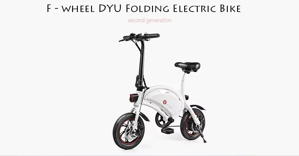 Dyu D2 In Offerta La Bici Elettrica Pieghevole Che Si Gestisce