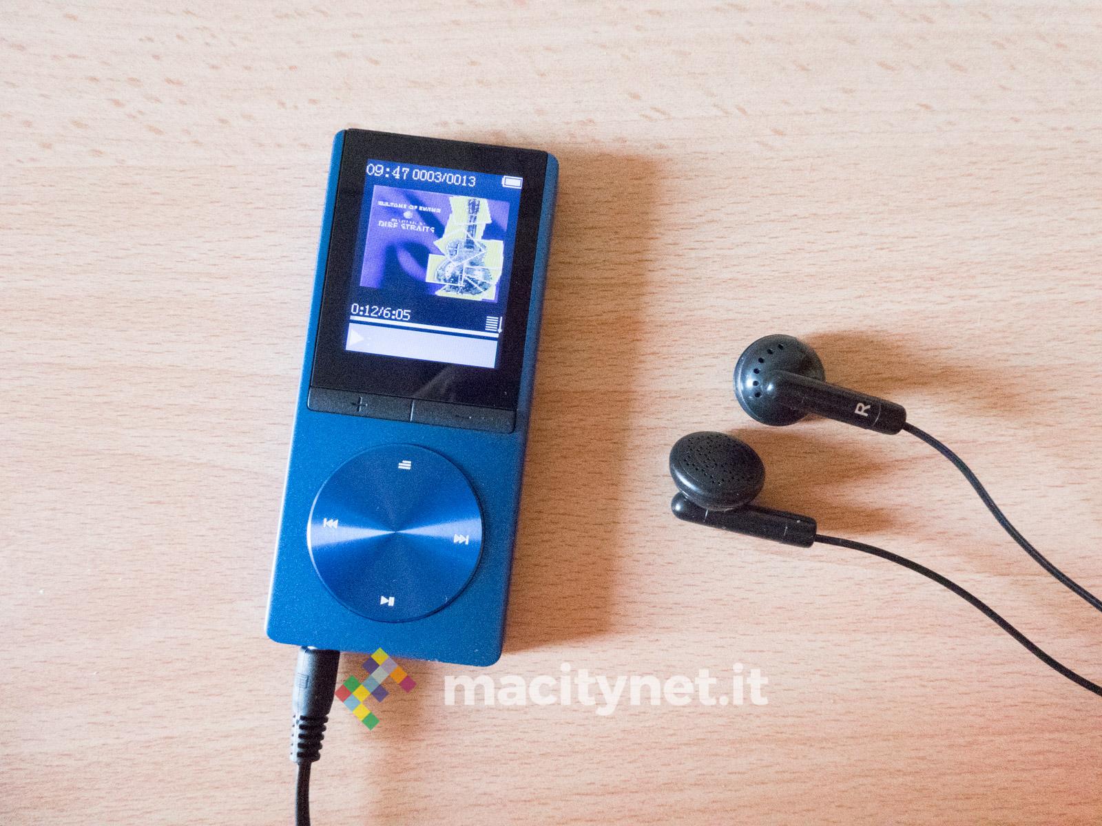 recensione lettore MP3 Omorc