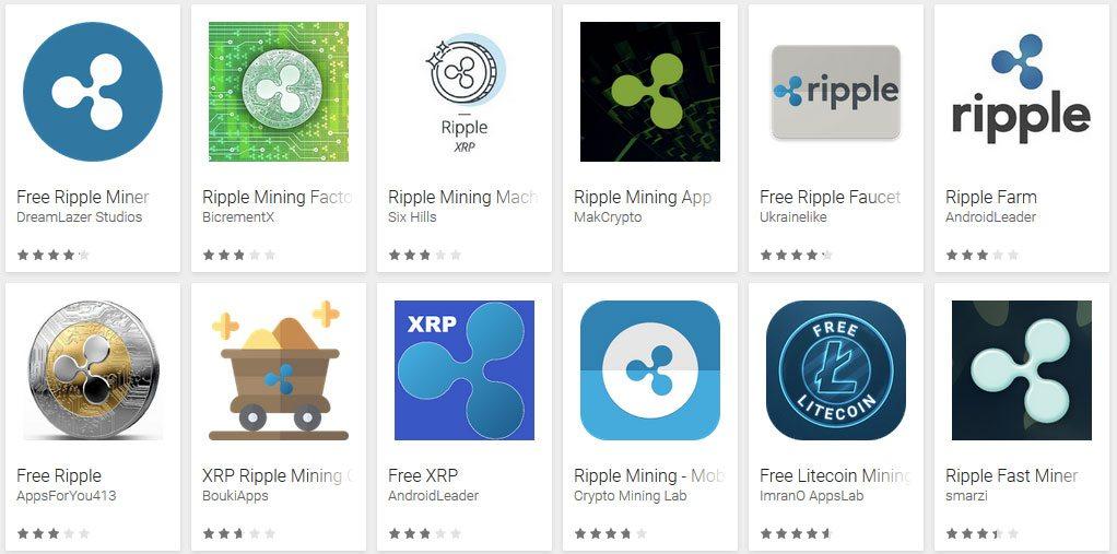 Finte app per ottenere Ripple tramite il mining
