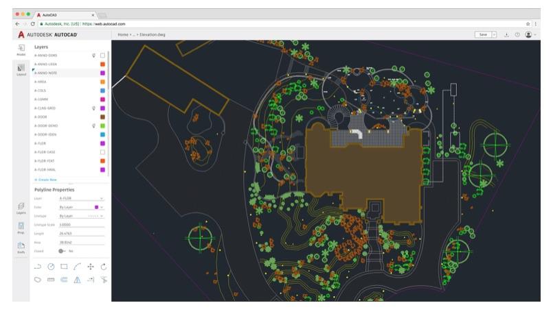 La versione web di AutoCAD è utilizzabile da browser