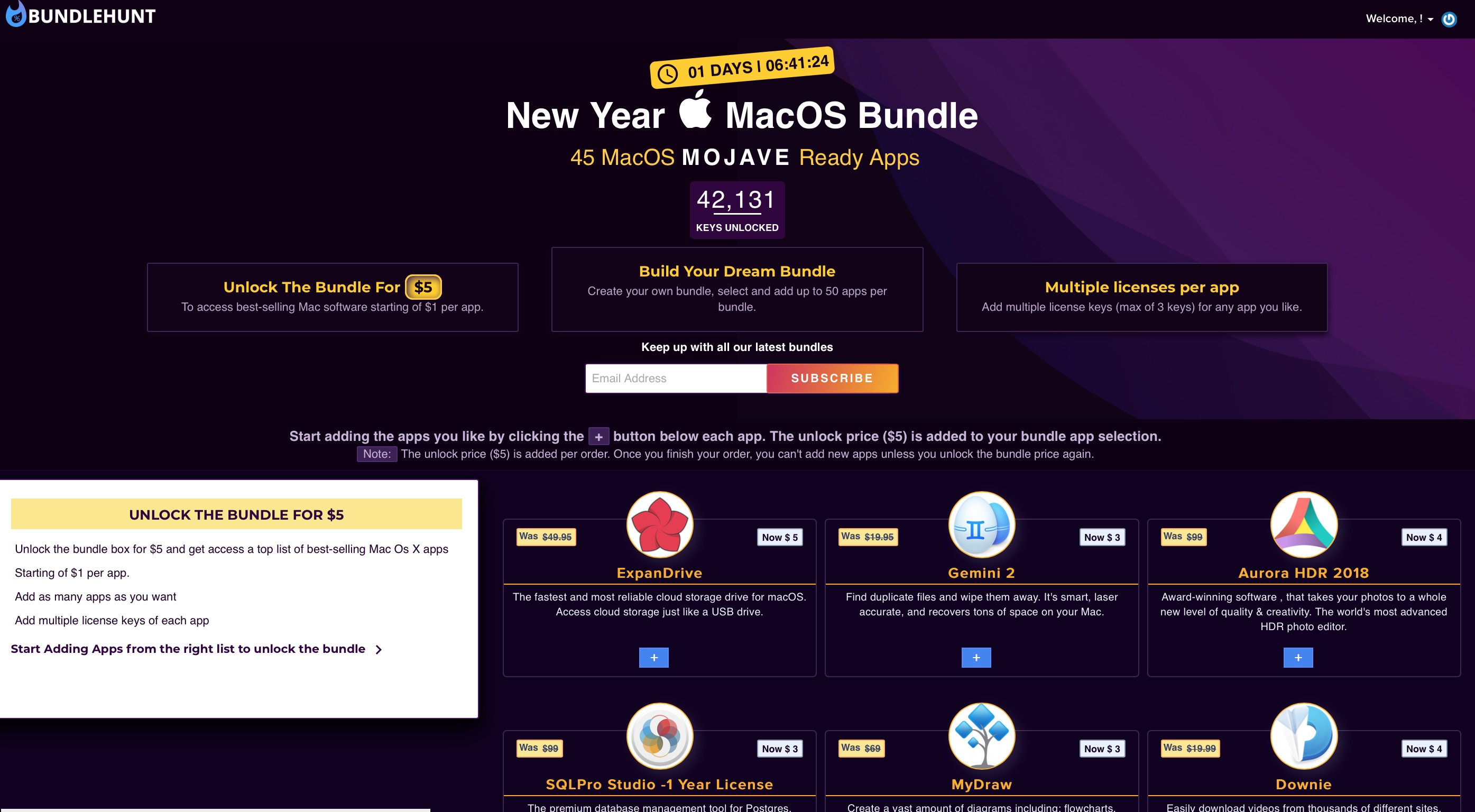 BundleHunt, tutti i programmi per Mac che volete: ultimi giorni a partire da 1 dollaro
