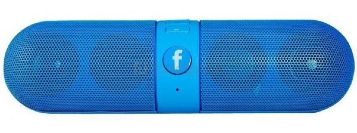 facebook processori - foto speaker con logo Facebook