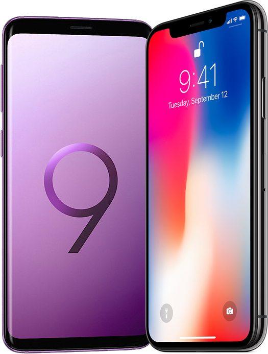 schermo galaxy s9 - foto galaxy s9 e iPhone x