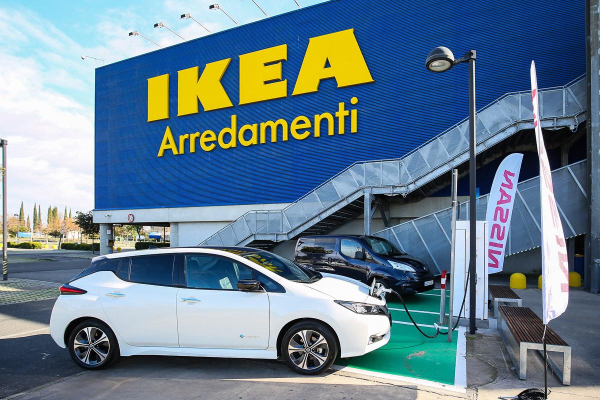Nissan E Ikea Nuova Colonnina Di Ricarica Per La Mobilità Elettrica