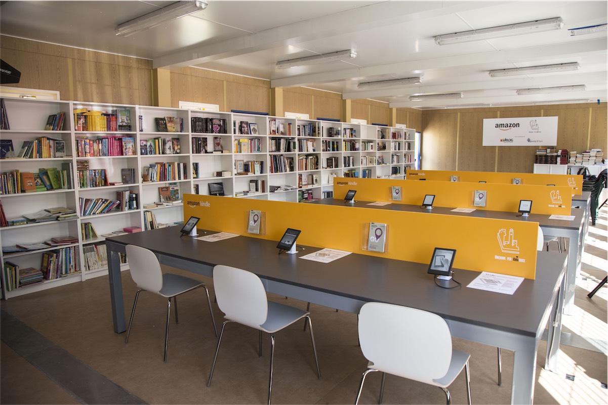 amazon amatrice - foto la nuova biblioteca donata da Amazon alla città di Amatrice