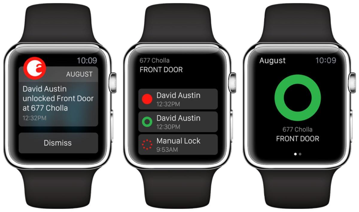 August Smart Lock funziona con Apple Watch, screenshot dell'app per watchOS 4