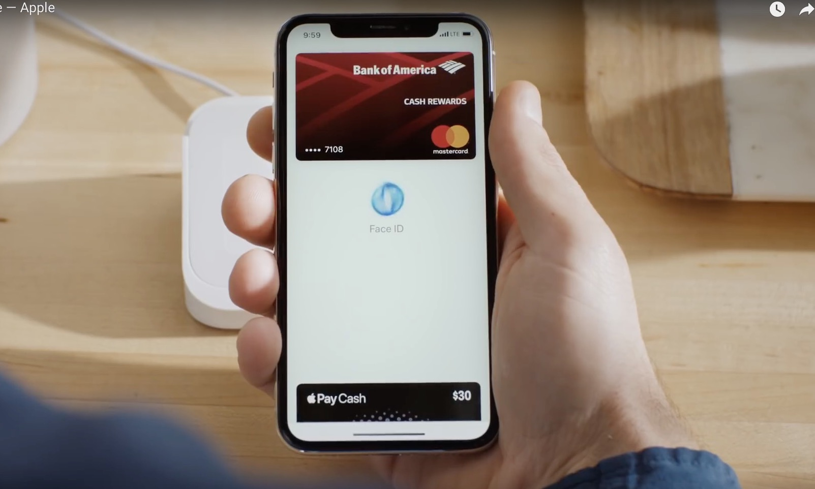 apple pay face id iphone x