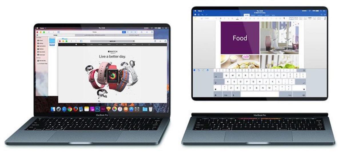 mai fusione tra mac e ipad, esempio di macbook con schermo removibile