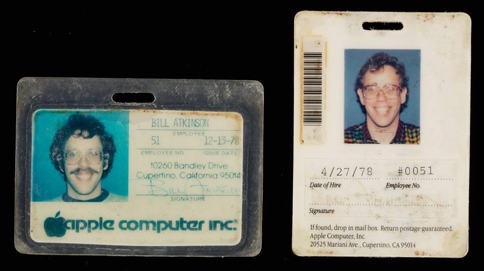 Il cartellino di Bill Atkinson