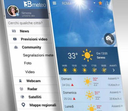 3BMeteo, l'app per le previsioni meteo con sistema di fotosegnalazioni