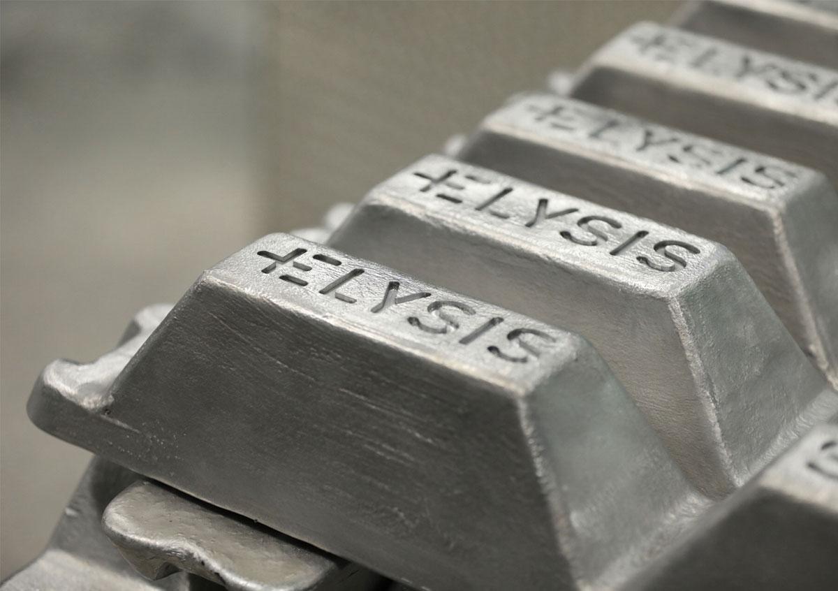 Il primo alluminio al mondo prodotto attraverso un processo di fusione privo di carbonio.