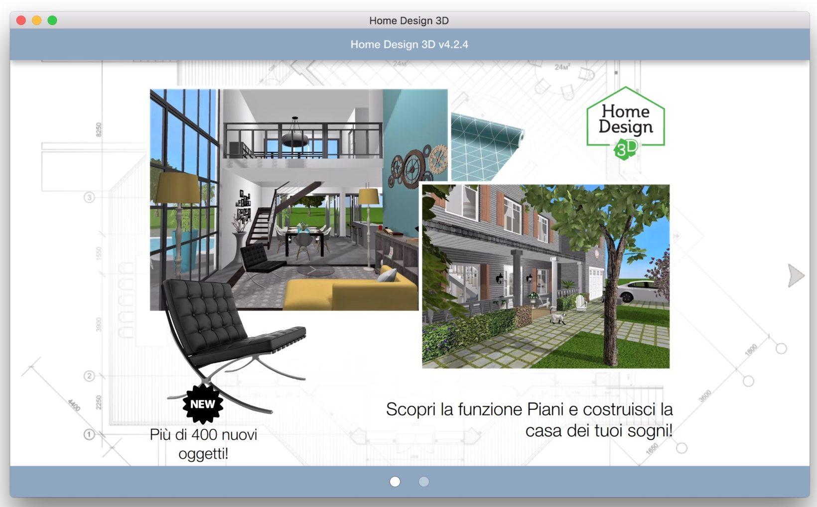 Home design 3d gold progettare la casa dei sogni su mac e for Progettare casa 3d facile