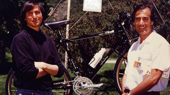 Steve Jobs e Antonio Colombo insieme ad Aspen