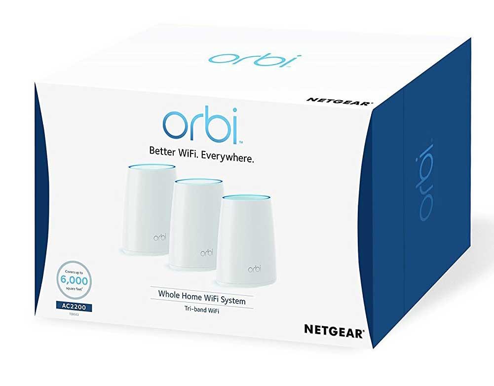 Sistema wireless Mesh Netgear Orbi AC3000 alternativa ad airport di apple