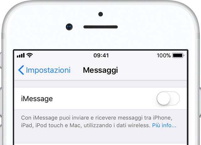ripristinare iPhone prima Annullare la registrazione iMessage
