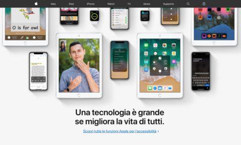 apple accessibilita, foto funzioni accessibilità Apple per iPhone, iPad, Mac, Watch e apple TV