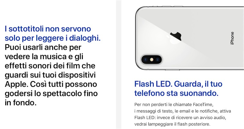 apple accessibilita, foto funzioni accessibilità Apple per iPhone, iPad, Mac, Watch e apple TV