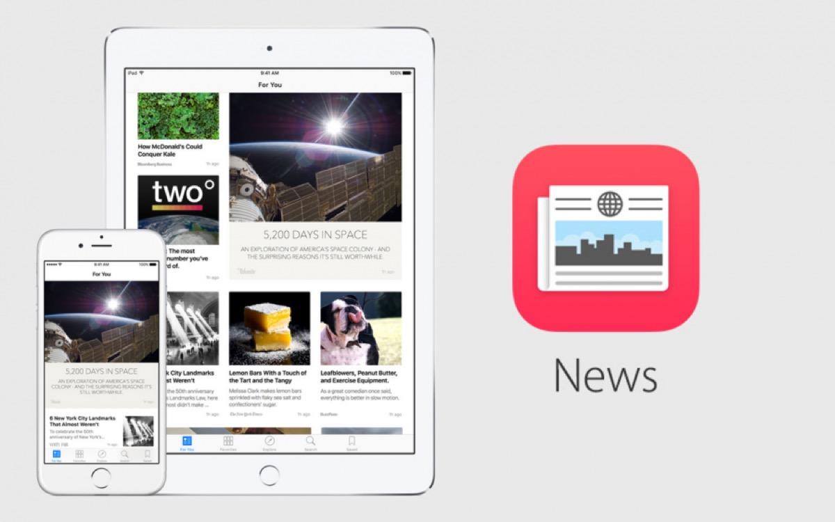 apple paga gli editori per apple news, alcune schermate e icona dell'app Apple News