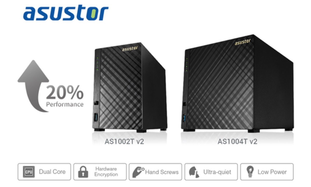 NAS Asustor, rinnovo completo per i modelli AS1002T e AS1004T