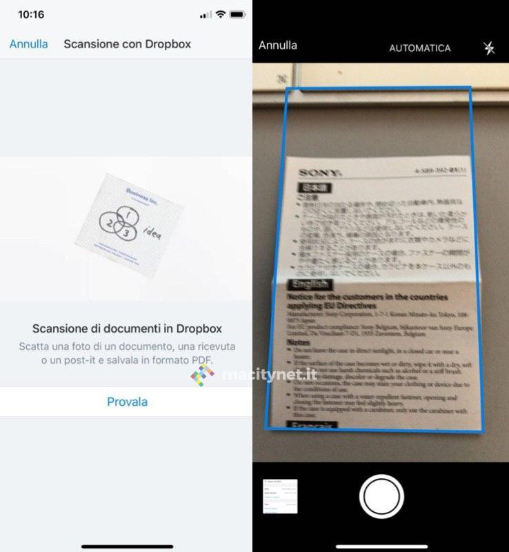 scanner dropbox