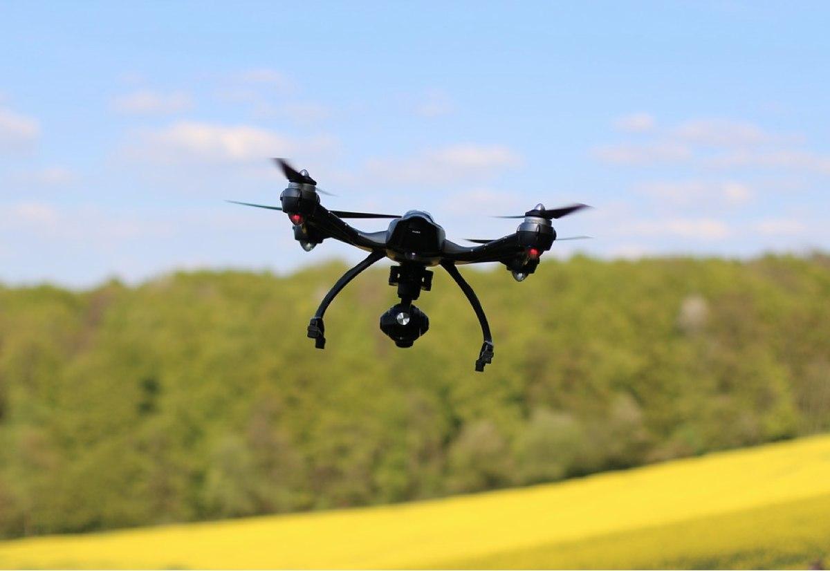 droni per migliorare mappe, foto drone in volo