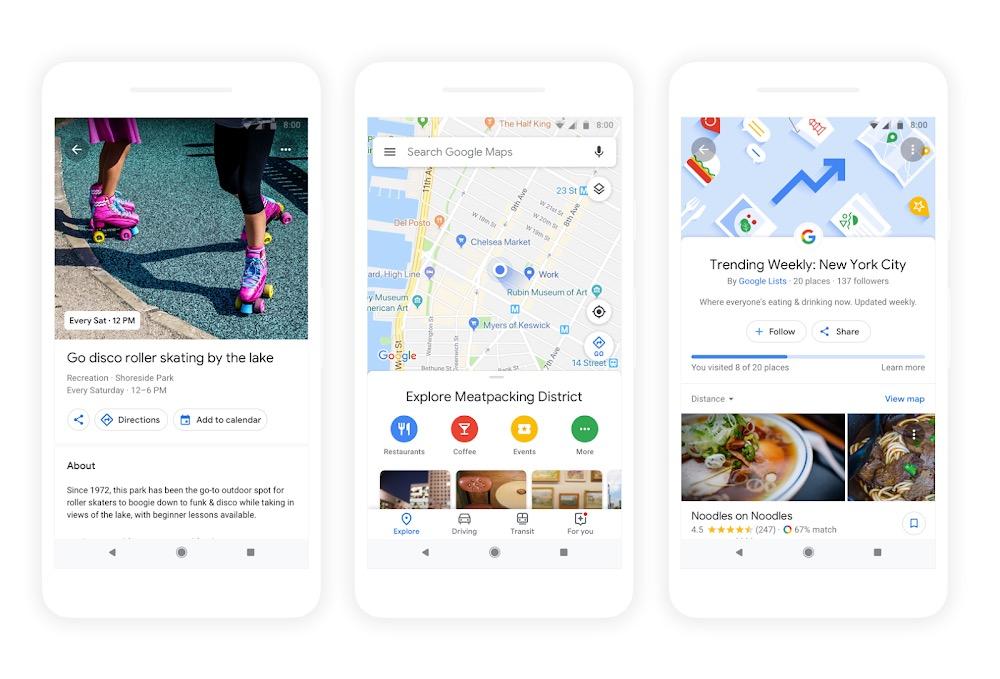 google mappe suggerimenti